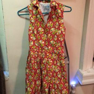 ModCloth Color Wheel Bea and Dot dress